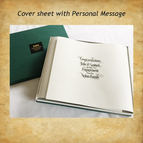 Wedding, Birthday, Engagement - any occasion really can be printed on cuts flap for the gift box.