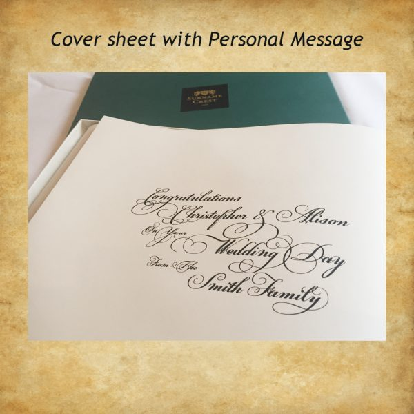 Congratulations on your wedding - personal message
