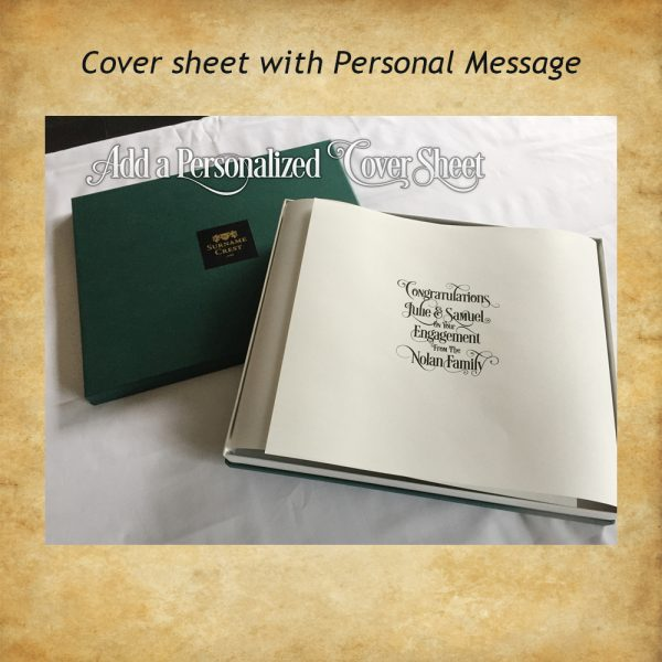 Luxury gift box with bespoke cover sheet.