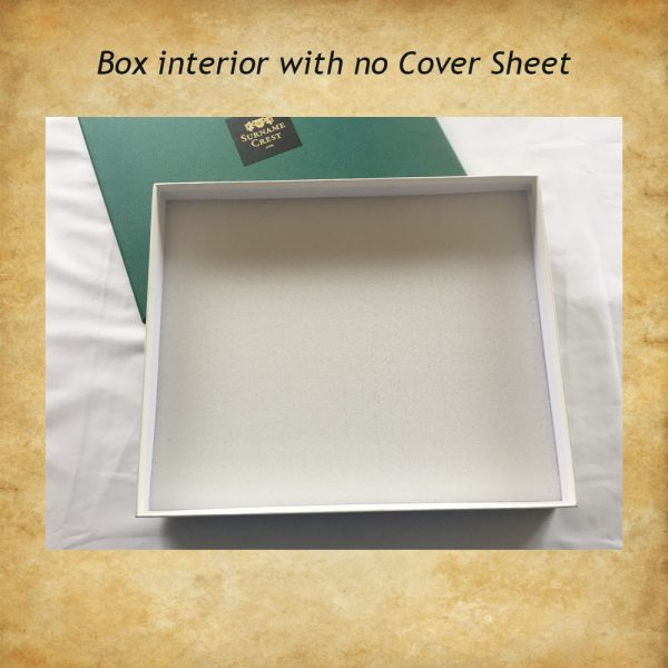 Gift box interior with soft foam base - and without a cover sheet