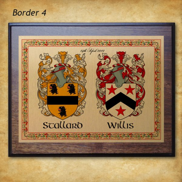 Anniversary Plaque- Border 4