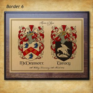 Family name  coat of Arms wedding or anniversary gift