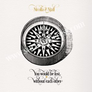 Never be lost again - old compass illustration