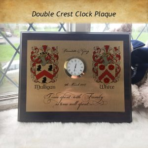 Time well Spent....- Family Plaque Clock - a quality time piece