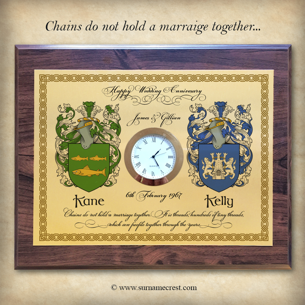 Wedding Clock Gift: Clock Plaque With Quotes