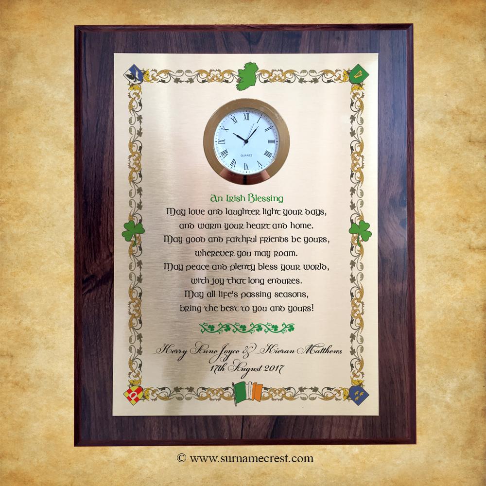 Irish Wedding Blessing Gifts: Irish Wedding Blessing Gift