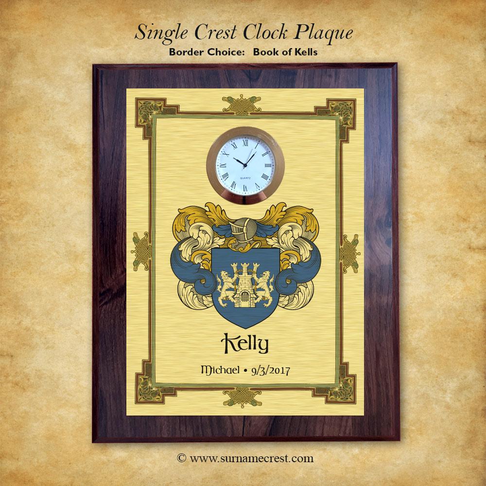 7d6b0063a3e Single Crest Clock Plaque