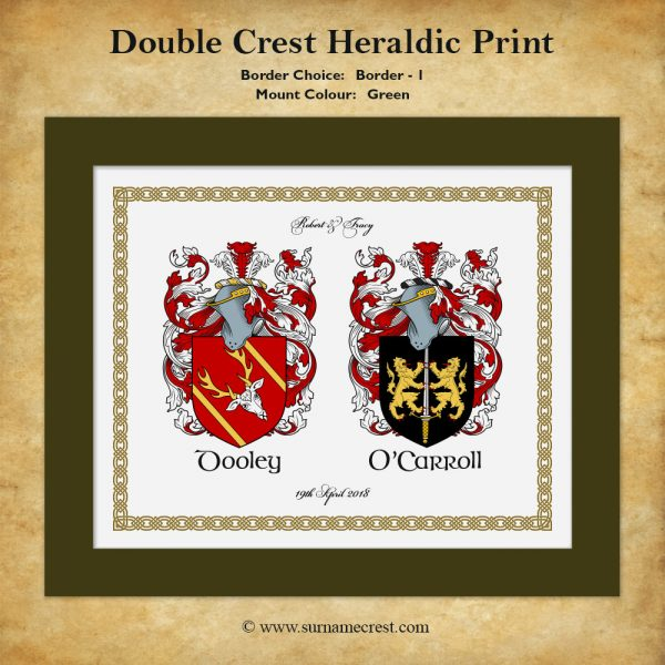 Two Family Coat of Arms - Border -1