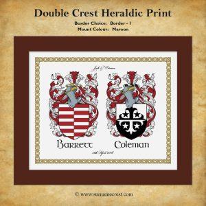 Family Crest Heraldic Print