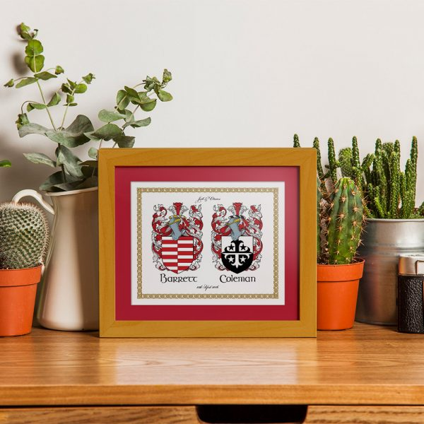 Ready for Framing Family Coat of Arms Gift