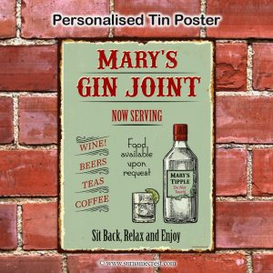 Gin Joint poster - Personalised with persons name