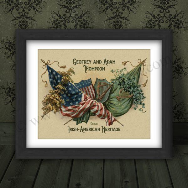 Personalised Irish American gift.
