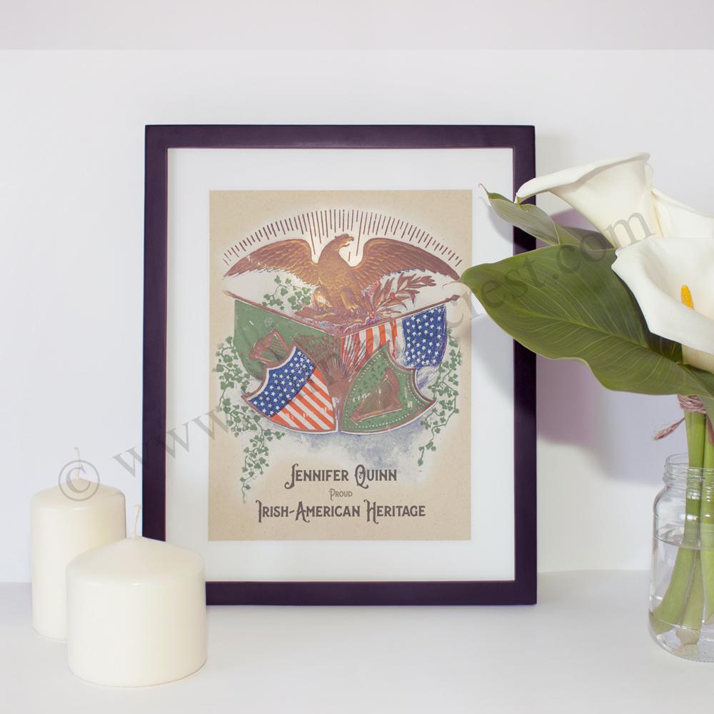 1edd00ebe96e American Eagle Over Flags (Irish-American Heritage Print)