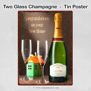 Congratulations on your New House -n Champagne tin sign