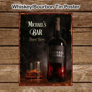 Personalised whiskey (whisky) Bourbon Tin Sign