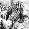 Vintage ship at Galway Docks, Ireland - 17 century map