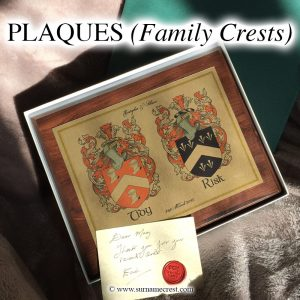 PLAQUES - (Family Crests)