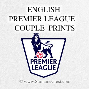English Premiership Gifts for couples. Celebrate andy occasion with this beautiful custom made gift.