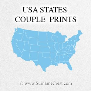 USA States couple prints celebrate where you come from. Select the states and personalise with names and dates. Inspirational couple/marriage quotes. Great gift!