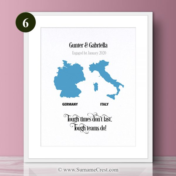 Inspiring relationship/couple quote print. Great gift - fun and meaningfull. Tough times don't last. Tough teams do!